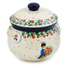 24 oz Stoneware Bouillon Cup with Lid - Polmedia Polish Pottery H7847J