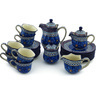 29 oz Stoneware Dessert Set for 6 - Polmedia Polish Pottery H9308G