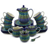 29 oz Stoneware Dessert Set for 6 - Polmedia Polish Pottery H9317G