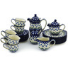 29 oz Stoneware Dessert Set for 6 - Polmedia Polish Pottery H9434G