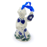 3-inch Stoneware Angel Ornament - Polmedia Polish Pottery H6957I