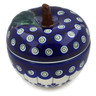 3-inch Stoneware Apple Shaped Jar - Polmedia Polish Pottery H1321L