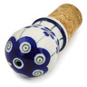 3-inch Stoneware Bottle Stopper - Polmedia Polish Pottery H5662L