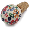 3-inch Stoneware Bottle Stopper - Polmedia Polish Pottery H6562K