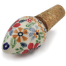 3-inch Stoneware Bottle Stopper - Polmedia Polish Pottery H6563K