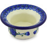 3-inch Stoneware Candle Holder - Polmedia Polish Pottery H6113G