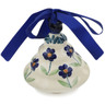 3-inch Stoneware Christmas Tree Ornament - Polmedia Polish Pottery H7565K