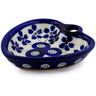 3-inch Stoneware Heart Shaped Bowl - Polmedia Polish Pottery H2997B