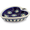 3-inch Stoneware Heart Shaped Bowl - Polmedia Polish Pottery H5549J