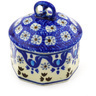 3-inch Stoneware Jar with Lid - Polmedia Polish Pottery H0287F