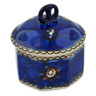 3-inch Stoneware Jar with Lid - Polmedia Polish Pottery H2859C
