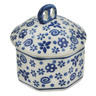 3-inch Stoneware Jar with Lid - Polmedia Polish Pottery H3646L
