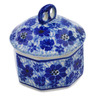 3-inch Stoneware Jar with Lid - Polmedia Polish Pottery H7241K