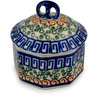 3-inch Stoneware Jar with Lid - Polmedia Polish Pottery H8934C