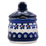 3-inch Stoneware Jar with Lid with Opening - Polmedia Polish Pottery H0550A