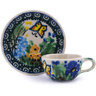 3-inch Stoneware Mini Cup and Saucer - Polmedia Polish Pottery H4602G