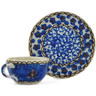 3-inch Stoneware Mini Cup and Saucer - Polmedia Polish Pottery H6614G