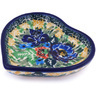 3-inch Stoneware Mini Heart Bowl - Polmedia Polish Pottery H0100G