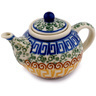 3-inch Stoneware Mini Tea Pot - Polmedia Polish Pottery H0081D