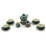 3-inch Stoneware Miniature Tea Set - Polmedia Polish Pottery H1035E