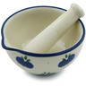 3-inch Stoneware Mortar and Pestle - Polmedia Polish Pottery H1766I