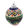 3-inch Stoneware Ornament Christmas Ball - Polmedia Polish Pottery H0914E