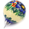 3-inch Stoneware Ornament Christmas Ball - Polmedia Polish Pottery H0915E