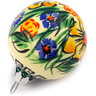 3-inch Stoneware Ornament Christmas Ball - Polmedia Polish Pottery H0918E