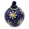 3-inch Stoneware Ornament Christmas Ball - Polmedia Polish Pottery H1333A