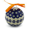 3-inch Stoneware Ornament Christmas Ball - Polmedia Polish Pottery H2937H