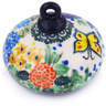 3-inch Stoneware Ornament Christmas Ball - Polmedia Polish Pottery H3634G