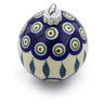 3-inch Stoneware Ornament Christmas Ball - Polmedia Polish Pottery H4373J