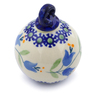 3-inch Stoneware Ornament Christmas Ball - Polmedia Polish Pottery H4608J