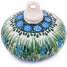 3-inch Stoneware Ornament Christmas Ball - Polmedia Polish Pottery H4891G