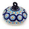 3-inch Stoneware Ornament Christmas Ball - Polmedia Polish Pottery H5316D