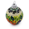 3-inch Stoneware Ornament Christmas Ball - Polmedia Polish Pottery H5479E