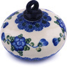 3-inch Stoneware Ornament Christmas Ball - Polmedia Polish Pottery H6414G