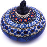 3-inch Stoneware Ornament Christmas Ball - Polmedia Polish Pottery H6493G