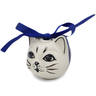 3-inch Stoneware Ornament Christmas Ball - Polmedia Polish Pottery H6792K