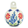 3-inch Stoneware Ornament Christmas Ball - Polmedia Polish Pottery H6827K