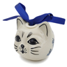 3-inch Stoneware Ornament Christmas Ball - Polmedia Polish Pottery H6853K