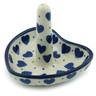 3-inch Stoneware Ring Holder - Polmedia Polish Pottery H1789I