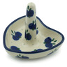 3-inch Stoneware Ring Holder - Polmedia Polish Pottery H1790I