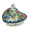 3-inch Stoneware Ring Holder - Polmedia Polish Pottery H6246H