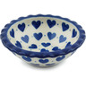 3-inch Stoneware Scalloped Bowl - Polmedia Polish Pottery H1760I