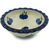 3-inch Stoneware Scalloped Bowl - Polmedia Polish Pottery H1770I