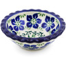 3-inch Stoneware Scalloped Bowl - Polmedia Polish Pottery H2966B