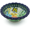 3-inch Stoneware Scalloped Bowl - Polmedia Polish Pottery H3641G