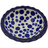 3-inch Stoneware Scalloped Bowl - Polmedia Polish Pottery H4245F