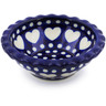 3-inch Stoneware Scalloped Bowl - Polmedia Polish Pottery H4908A